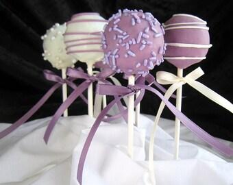 Bridal Shower Cake Pops, Party Favors, Dessert Table, Candy Station, 1 dozen Cake Pops, Bridal Shower