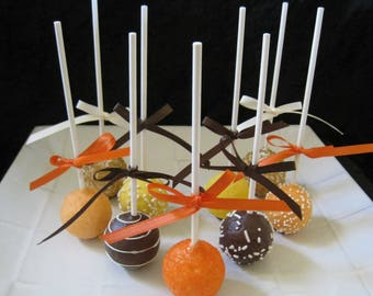 Fall Wedding: Cake Pops Made to Order with High Quality Ingredients, 1 dozen Cake Pops