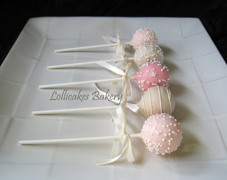 Pink Baby Shower Favors Baby Shower Cake Pops Made To Order Etsy