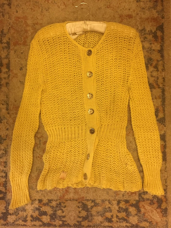1930s Yellow Deadstock Sweater
