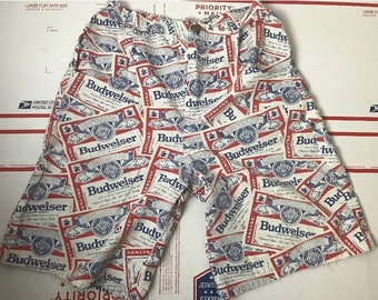3be6a9fe3f4c5 Budweiser Beer Vintage Shorts