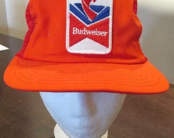 b5f494823d11c Budweiser beer vintage fishing snapback trucker hat