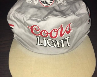 b8f6f49497e64 Coors Light Beer Vintage Paintet Snapback Hat