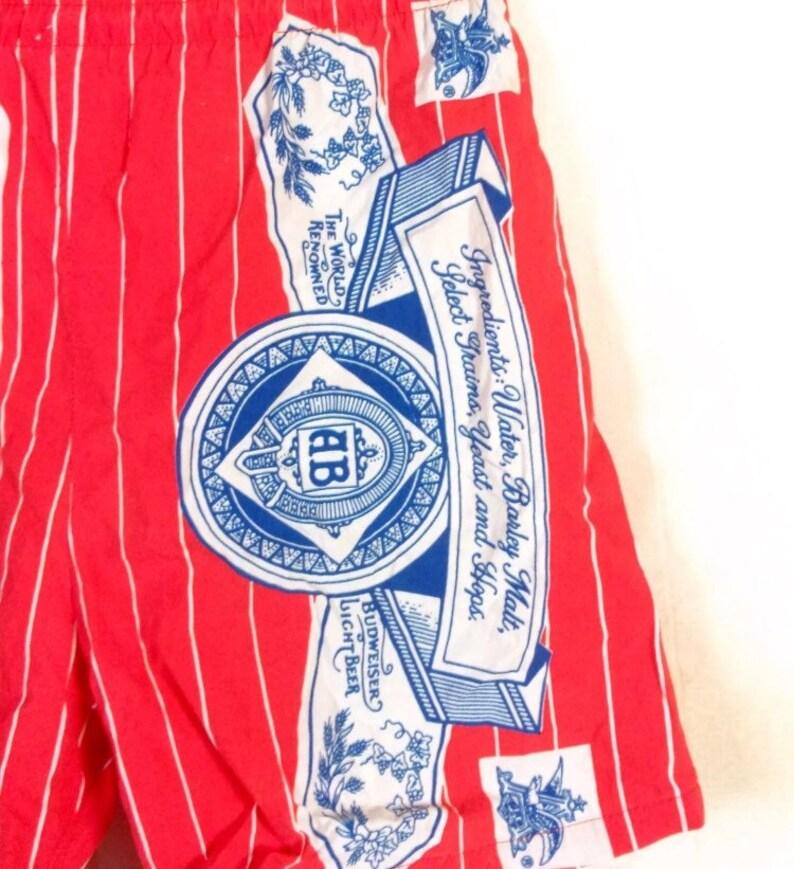 570239a2e1812 Bud Light Budweiser Beer Vintage Carabella Bathing Suit Trunks | Etsy
