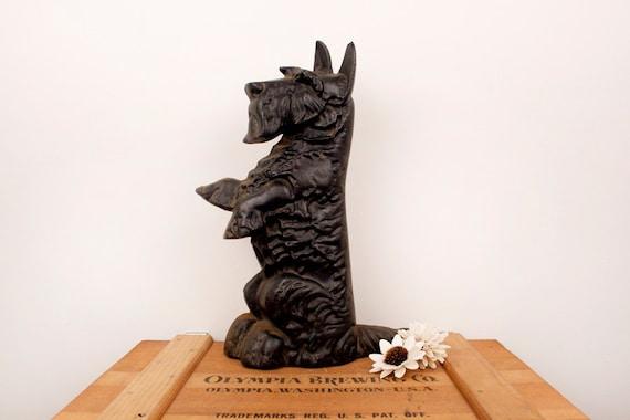 Vintage Cast Iron Scottie Dog Doorstop Etsy
