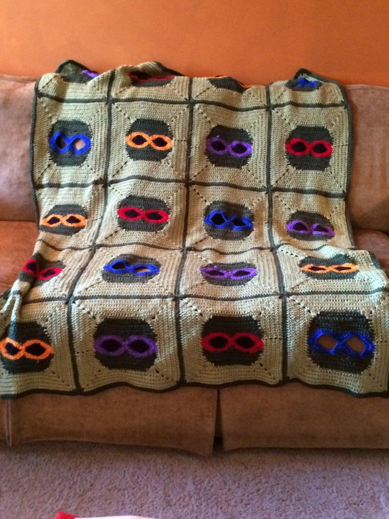 Crochet Pattern Ninja Turtle Afghan image 0