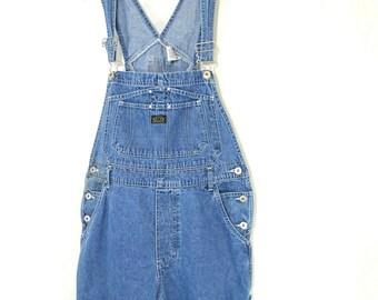 28ad2f90222 Jordache Denim Bib Overalls Vintage Women Juniors Size L 11-13 Blue Light  Wash