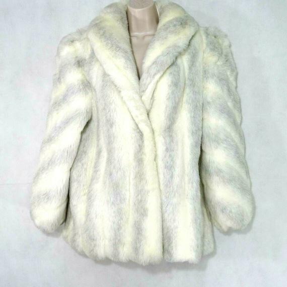 Vintage 80s 90s Donnybrook Faux Fur Coat Jacket Wo