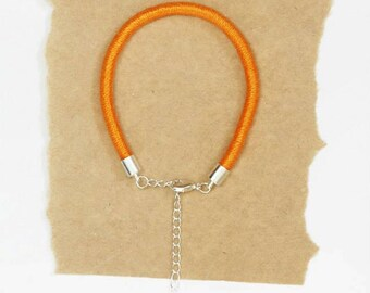 Thin Cord Bracelets - Wrapped Rope Bracelets - Multiple Colours - Yellow, Orange, Blue - Gift for Her