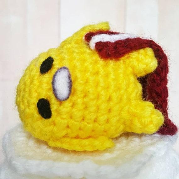 Gudetama keychain crochet doll amigurumi lazy egg plush | Etsy | 570x570