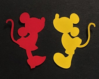 Kissing Mickey & Minnie Confetti, Many Sizes and Colors!