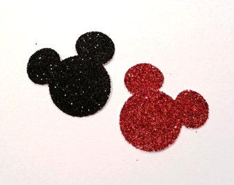 """Glittered Mickey Mouse Confetti, 1"""" Wide"""