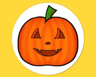 Jolly Jack-o-Lantern Halloween Stickers, Pumpkin Stickers, Envelope Seals