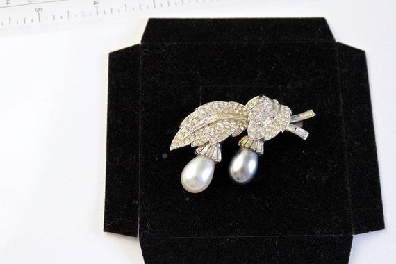 Wedding Jewelry Rare Crown Trifari 1950s  rhodium