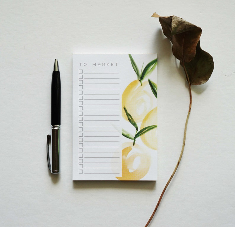 To Market List Notepad Grocery List Notepad Memo Pad