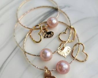 Baby & Child Bangle   Baby Bangle   Pearl Bangle   Charm Bangle   Shell Bangle   Personalized Bangle   Beach Jewelry   Hawaii Jewelry