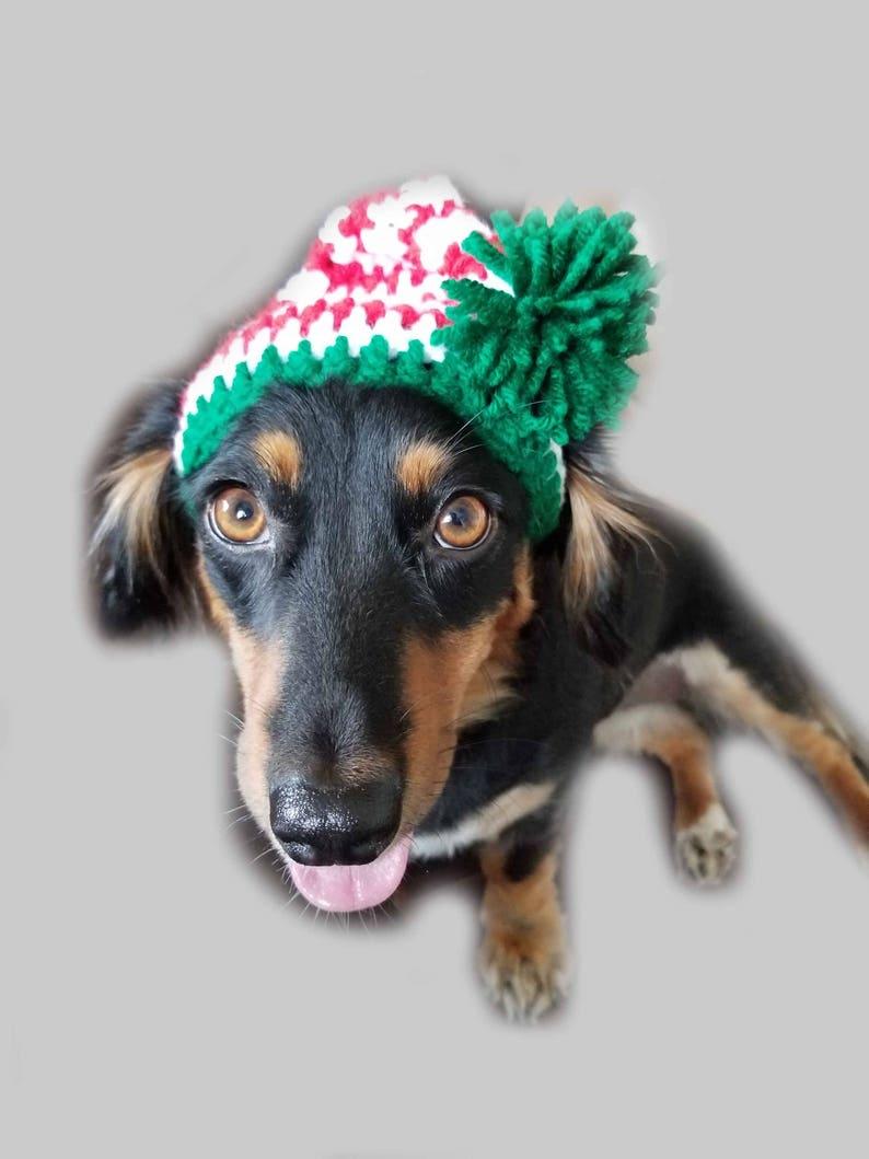 0d52a9d8cb9b Crochet Elf Dog Hat Christmas Hat Festive Hat Fur Baby Gift