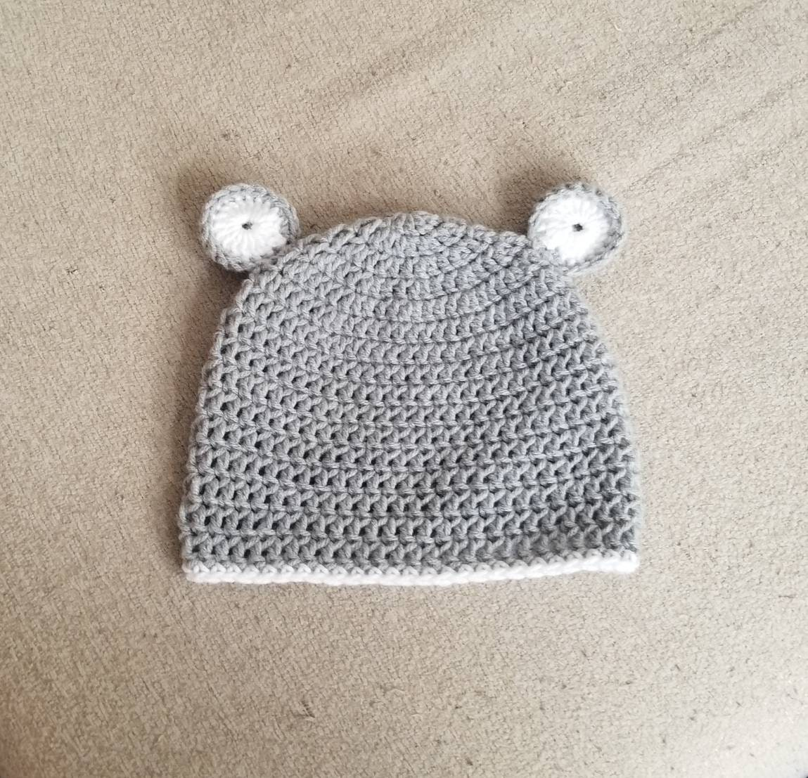 Crochet Mouse Hat For Baby Girl Baby Boy Photography Prop In Etsy