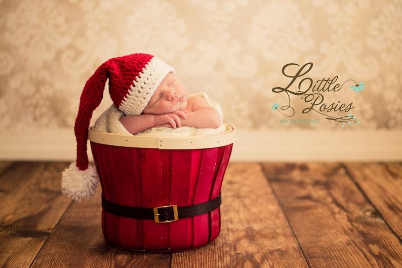 Newborn Photography Prop Baby Christmas Santa elf hat photo prop gift