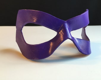Purple Leather mask Huntress mask Villian Huntress Cosplay Violet Costume The Riddler Halloween Mask Mardi Gras mask Comicon Masquerade