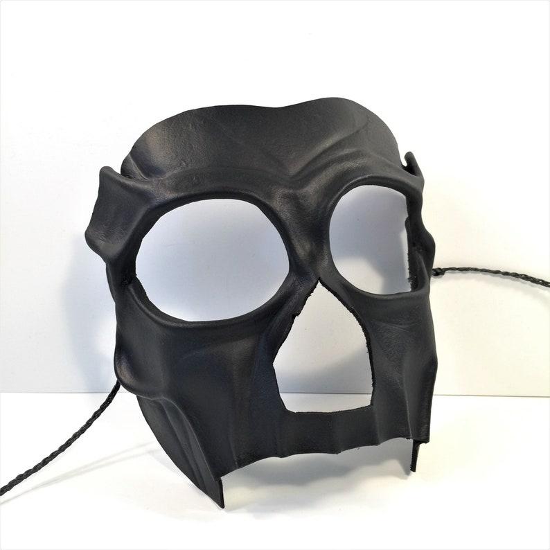 af62256ed054 Leather BDSM mask Black Day of the Dead Mask VooDoo Witch | Etsy