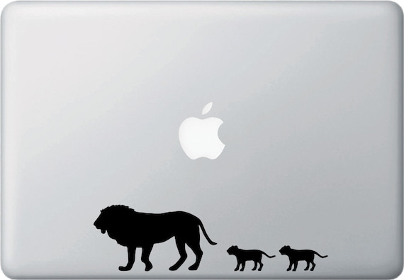 """CAR Lion Dad and Cubs Family ©YYDC 7.5/""""w x 2/""""h Vinyl Car Decal Sticker"""