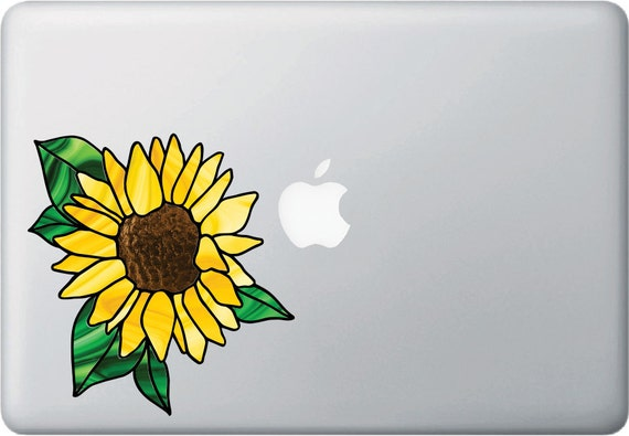Sunflower Stained Glass Style Vinyl Decal for Car Window Bumper Truck Decor