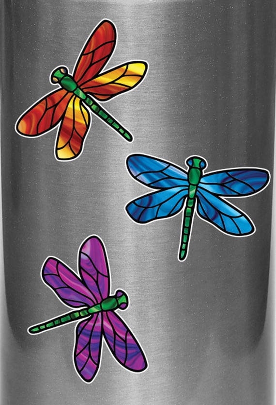 """Cherry Blossom Branch 5.5/"""" CLR:WND Stained Glass Vinyl Window Decal ©YYDC"""