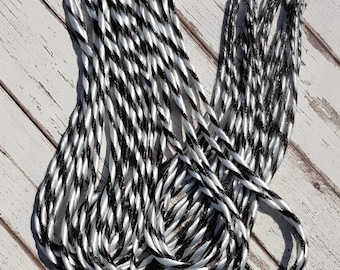 23 inch Double Ended Candy Cane Dreads 10 Pack Black White Colours