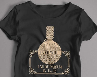 4359921128cc Inspired by Killing Eve T shirt - Villenelle Parfum No12 Cult TV T shirt  Unisex and Lady Fit Sizes Available Old Skool Hooligans