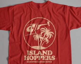 f11a5937 Inspired by Magnum PI T shirt - Island Hoppers Logo | S-5XL Unisex & Lady  Fit Sizes Available Old Skool Hooligans Cult TV Tee