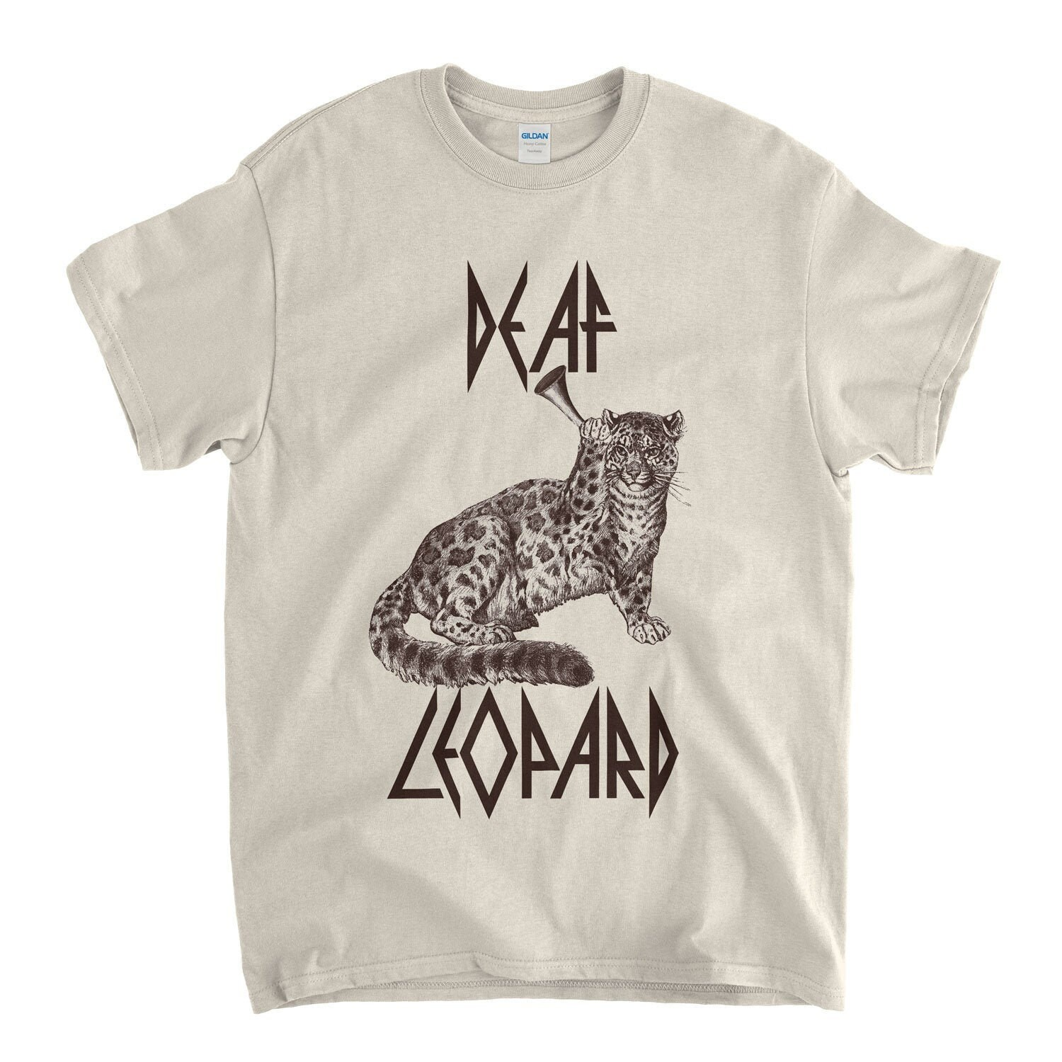 Unisex Funny Deaf Leopard T-shirt - up to 5XL
