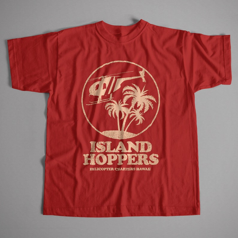 5025c2629 Inspired by Magnum PI T shirt Island Hoppers Logo S-5XL | Etsy