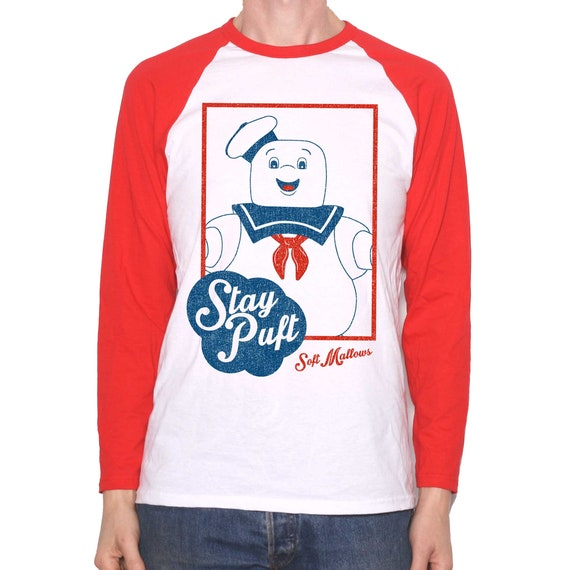Stay Puft Marshmallows Ad Raglan Long Sleeve Shirt