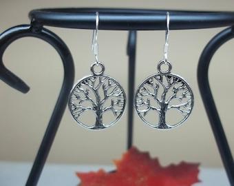Tree of Life Earrings Dangle Earrings Sterling Silver Earrings Amity Divergent Inspired Earrings Gift For Her BuyAny3+Get1 Free
