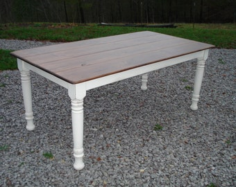 Distressed Table, Rustic Farm Table, Rustic Kitchen Table, Dining Table