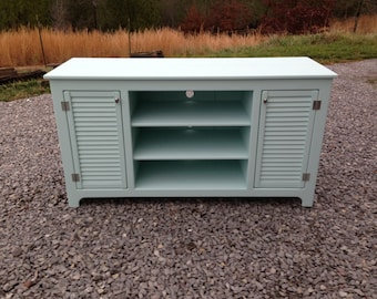 Painted TV Stand, Rustic TV Stand, Rustic Media Console