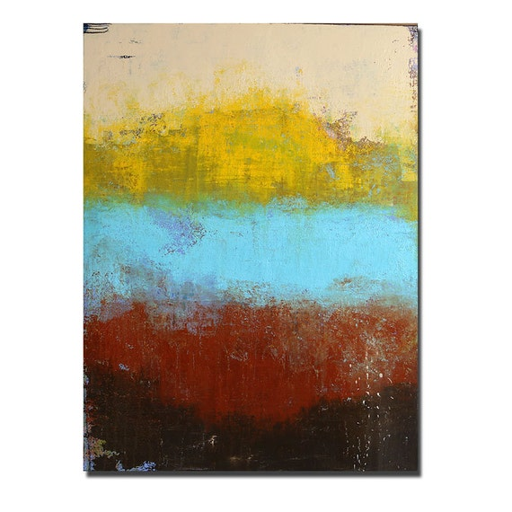 Color Block Original Acrylic Painting Abstract Art Etsy