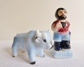 Reserved Salt and Pepper Shakers - Paul Bunyan & Babe the Blue Ox