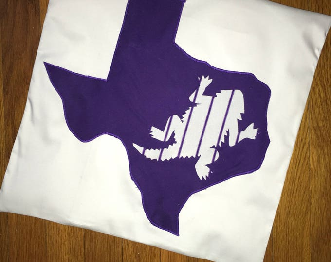 Texas Love TCU Baseball Horned Frog Pillow 16x16 Pillow Cover TCU home Decor TCU pillow Farmhouse Decor Christmas Valentine Pillow