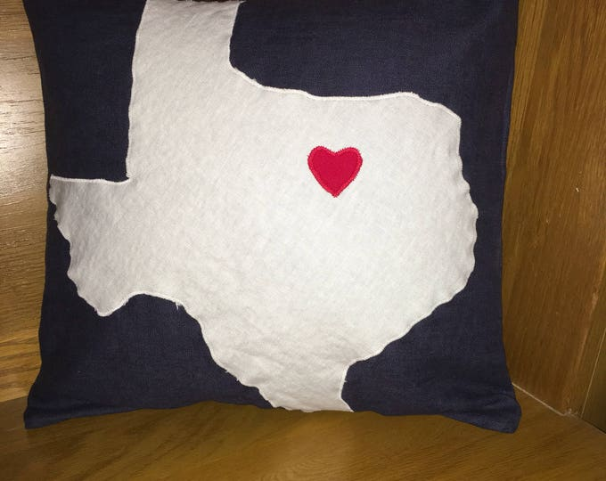 Linen Texas Pillow 16x16 Pillow Cover TCU home Decor Farmhouse decor Christmas Valentine Pillow Texas pride pillow Texas Decor