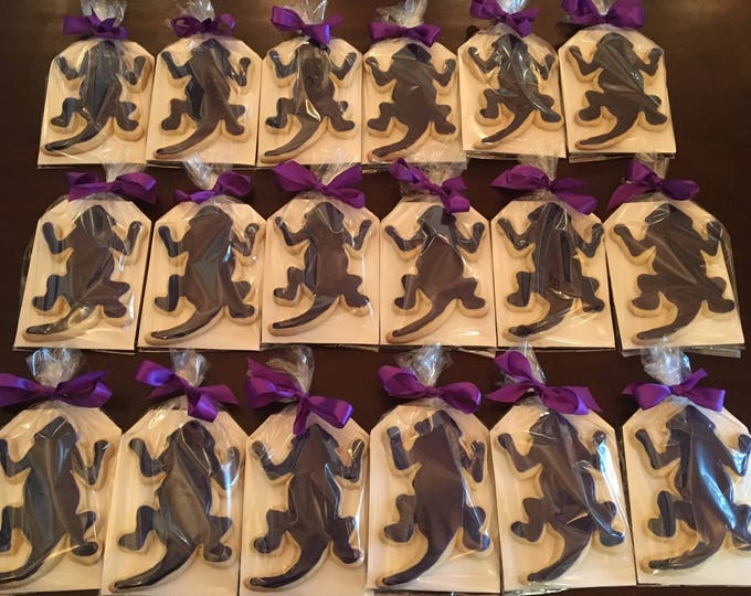 Extra large TCU Horned Frog Cookies Homecoming Graduation Wedding