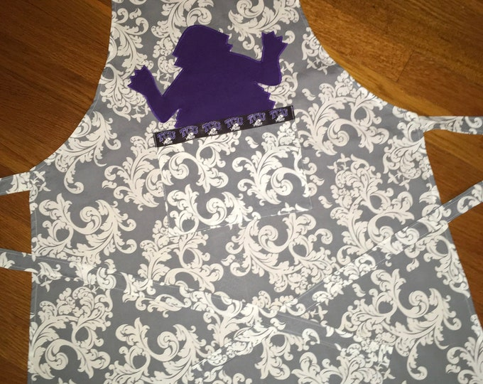 TCU Peekaboo Horned Frog Apron TCU Kitchen tcu home tcu wedding, gifts for women, graduation gift