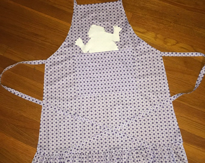 TCU Peekaboo Horned Frog Ruffled Apron TCU Kitchen tcu home tcu wedding, mothers day gift, hostess gift