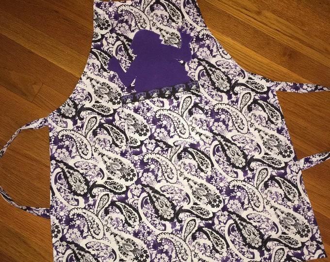 TCU Peekaboo Horned Frog Apron TCU Kitchen tcu home tcu Christmas purple batik apron tcu gift