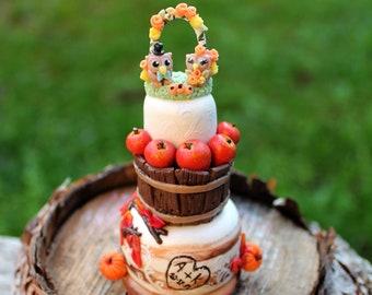 Wedding cake replica ornament, 1st first anniversary newlyweds gift, custom Christmas ornament, couples gift, mini wedding cake