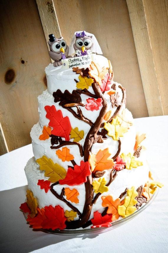 Hochzeit Eule Kuchen Topper Benutzerdefinierte Braut Und Etsy