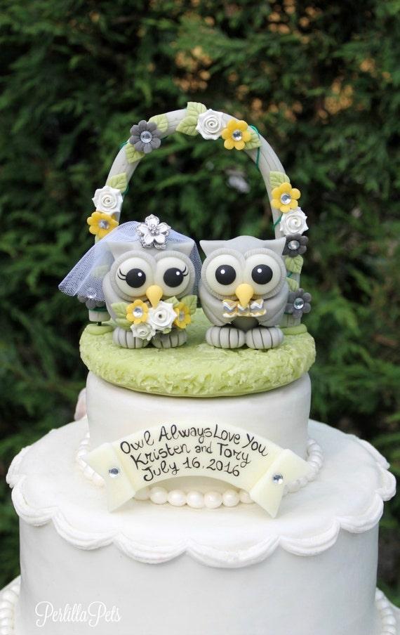 Liebe Vogel Hochzeit Eule Kuchen Topper Hochzeit Blumen Etsy