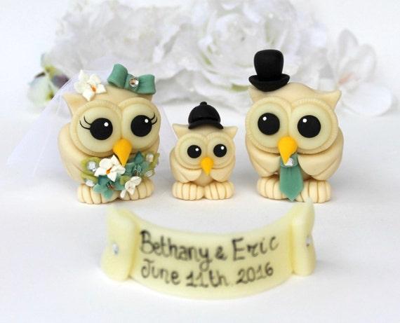 Wedding owl cake topper custom love bird cake topper with | Etsy