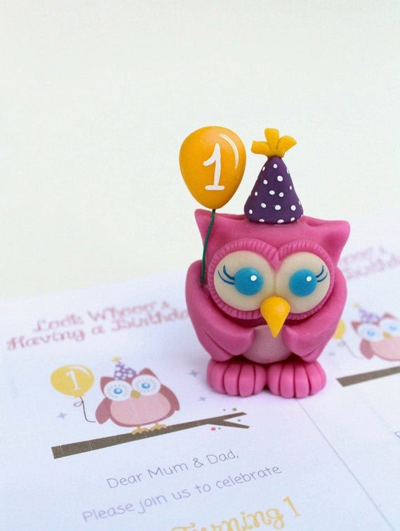 Superb Babys First Birthday Cake Topper Baby Owl Cake Topper Etsy Personalised Birthday Cards Akebfashionlily Jamesorg